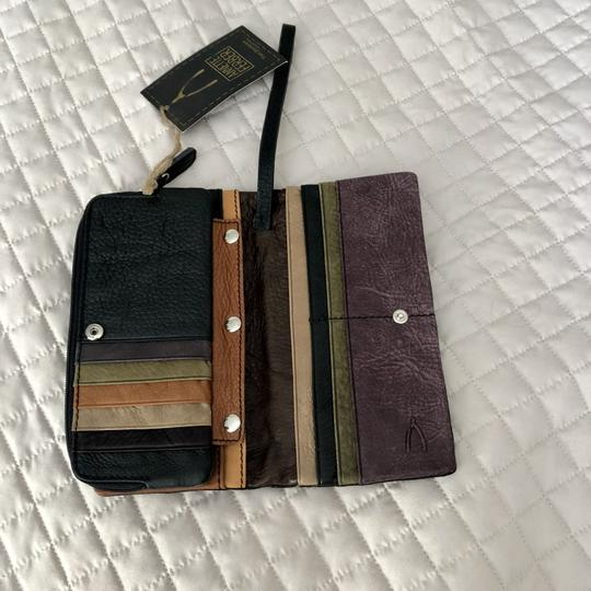 Anthropologie Leather Black Clutch Image 3