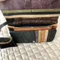 Anthropologie Leather Black Clutch Image 4