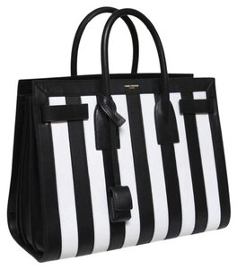Saint Laurent Tote in Black and White