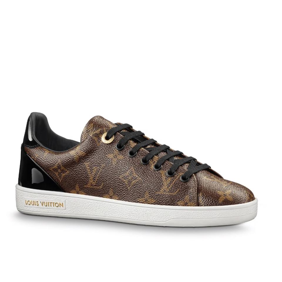 70a6cc034e43 Louis Vuitton Brown 2018 Limited Sold Out Frontrow Sneakers Monogram ...