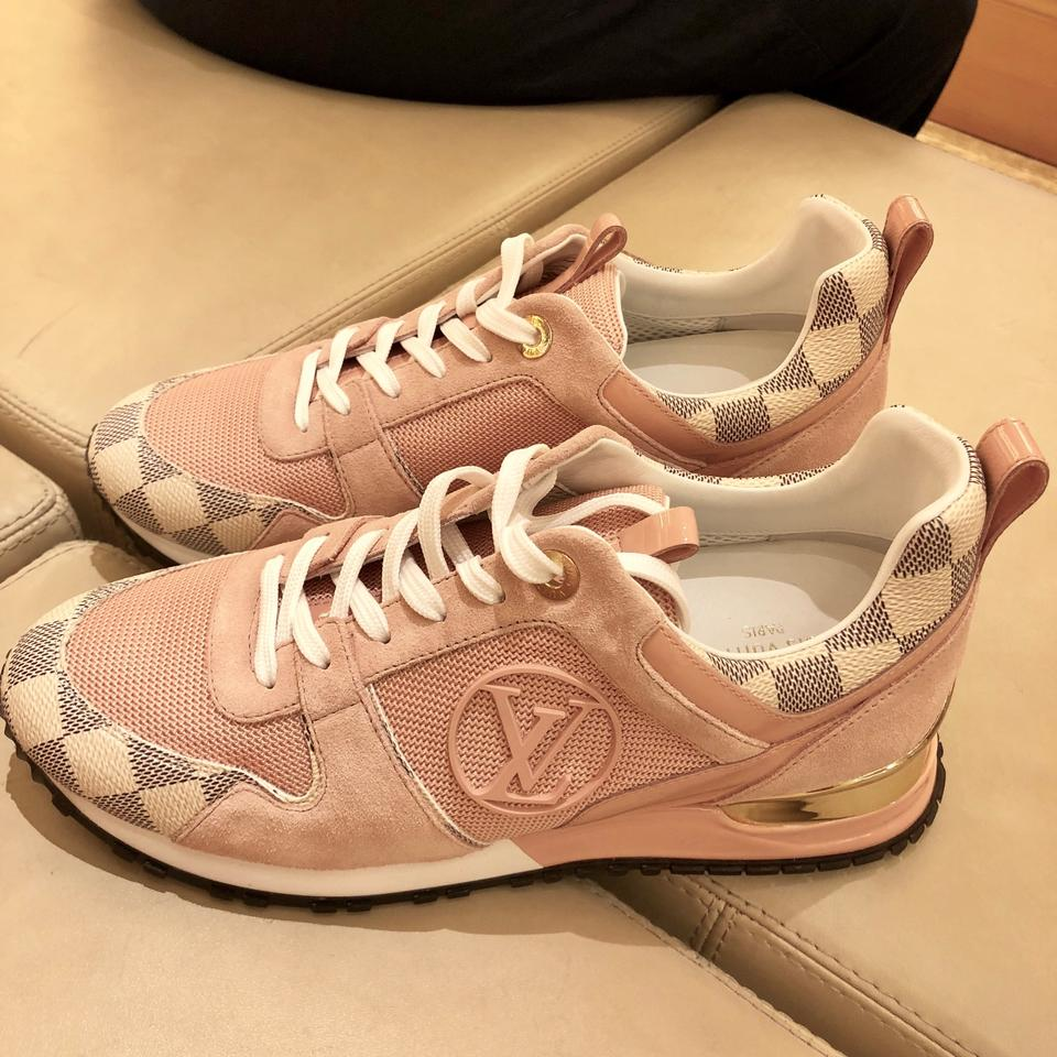 a95f42b4dba Louis Vuitton White 2018 Limited Sold Out Run Away Sneakers Damier Azur  Pink 1a43h3 Sneakers .