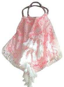 6 Shore Road By Pooja Tote in Peach & white