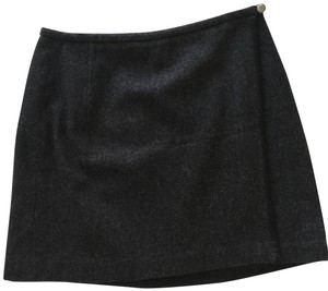 Eddie Bauer Wool Wrap Skirt Dark Gray