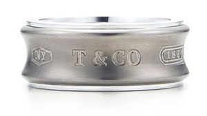 Tiffany & Co. Tiffany 1837 Sterling Silver & Titanium Band Ring