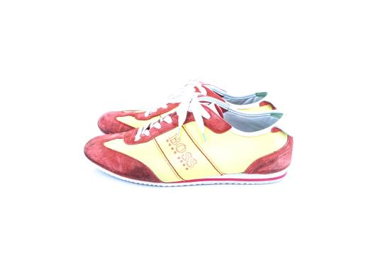 Hugo Boss * Yellow/Red Red/Yellow Sneakers Shoes Image 2