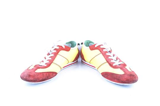 Hugo Boss * Yellow/Red Red/Yellow Sneakers Shoes Image 5
