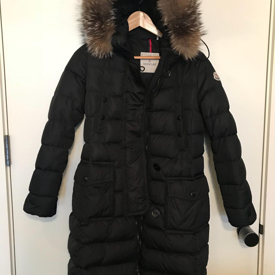 Moncler Khloe Quilted Puffer Coat wFur Hood   Outerwear