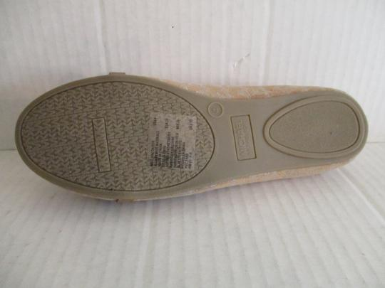 MICHAEL Michael Kors Gold Hardware Rubber Sole Signature Insole Tan Flats Image 3