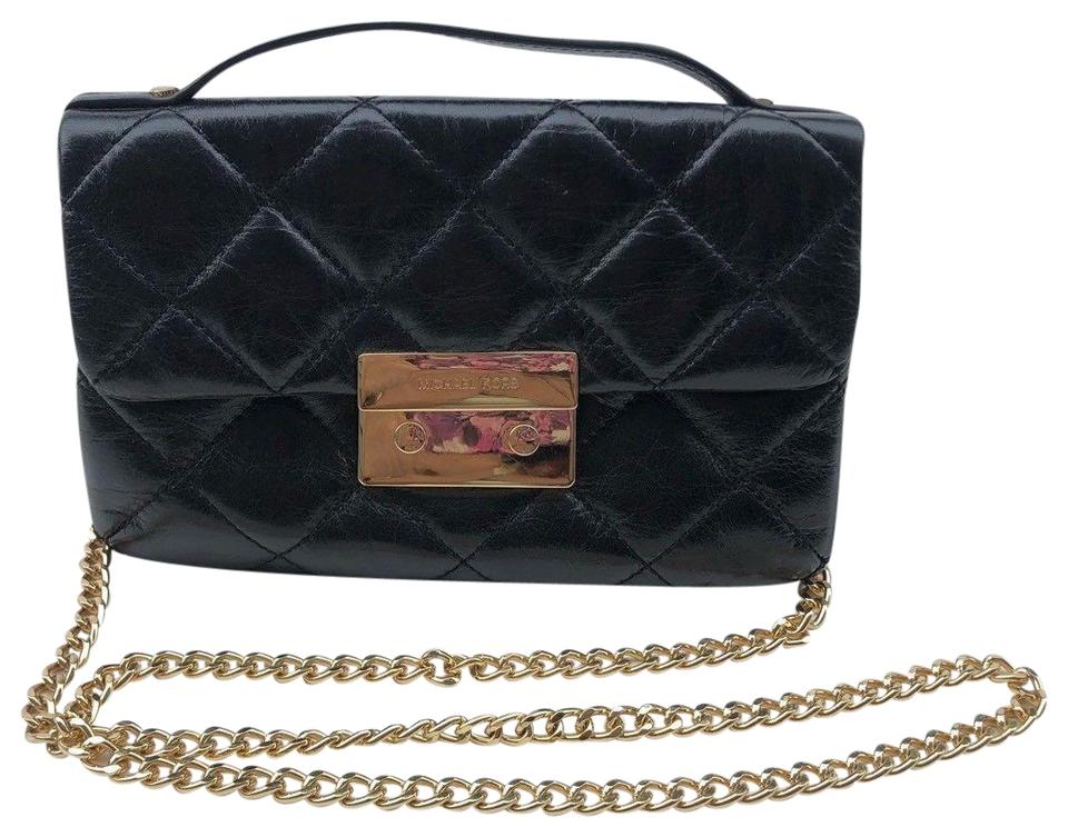 32c7a85ea0 Michael Kors Sloan Small Quilted Black Leather Cross Body Bag - Tradesy