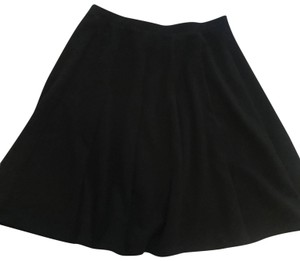 NY Collection Work Wear Pleated Skirt Black