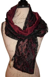 Express Floral Lace Dual Fabric Sheer Scarf