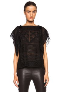 Isabel Marant Silk Top Black