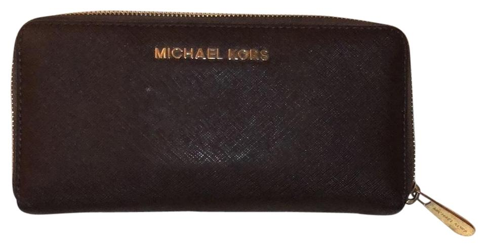 ac338a5c84e5ed MICHAEL Michael Kors Chocolate Brown Zip Around Wallet - Tradesy