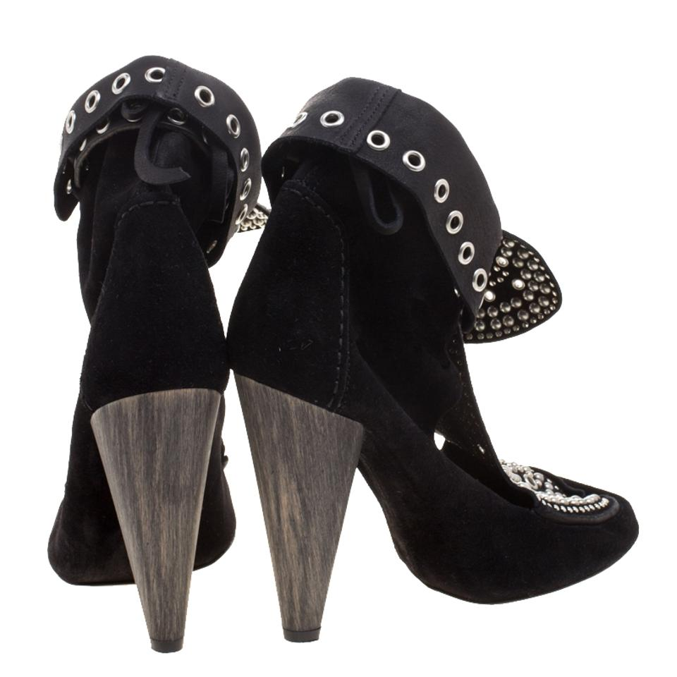 Studded Cutout Booties Marant Boots Ankle Mossa Isabel Suede Black HqI6SwSX