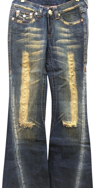 Item - Blue/Green Distressed Boot Cut Jeans Size 2 (XS, 26)