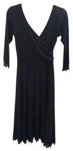Maggy London Lace Trim Evening Classic Dress