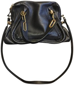 Chloé Luxury Gold Hardware Totes Tote Satchel in Black