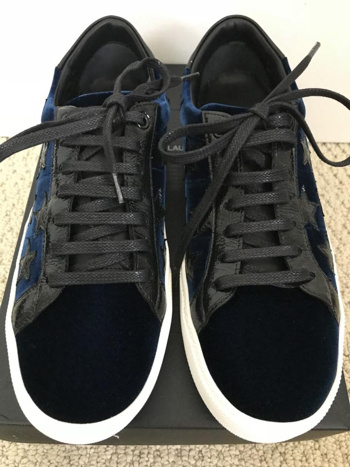 Sneakers 06 Saint Top Dark Sl Sneakers Blue Black Low Velvet Laurent qvIwvZnA