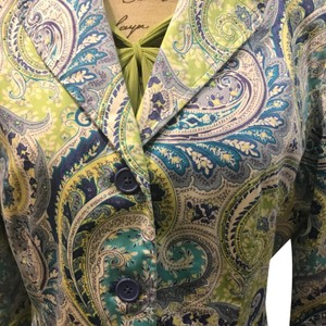Larry Levine white with multi colors Jacket
