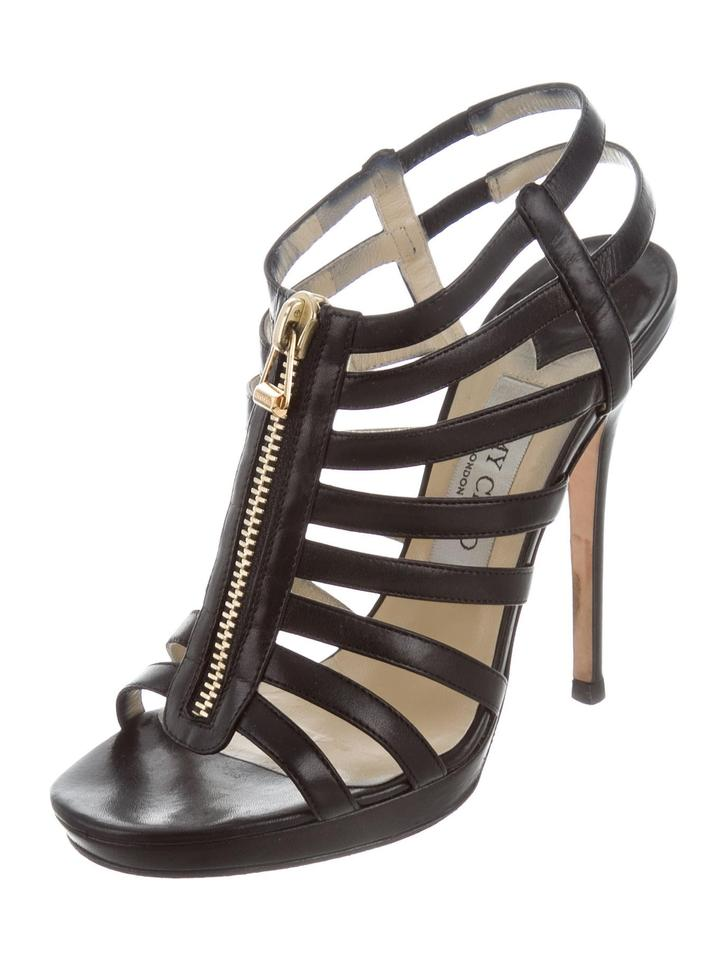 18a280d95756 ... Jimmy Choo Glenys Caged Multistrap Black Sandals .
