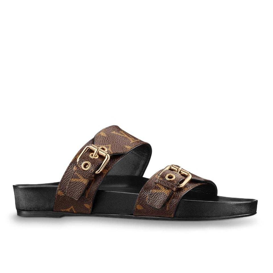 733b0c5a06704 Louis Vuitton Brown 2018 Limited Bom Dia Mule Monogram 1a3r50 Sold Out Lv  Sandals