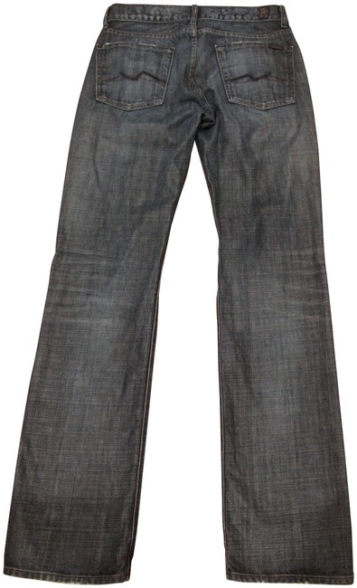 7 For All Mankind Blue Dark Rinse Men's Standard In Wash Straight Leg Jeans Size 30 (6, M) 7 For All Mankind Blue Dark Rinse Men's Standard In Wash Straight Leg Jeans Size 30 (6, M) Image 1