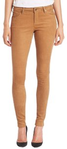 AG Adriano Goldschmied Leather Suede Skinny Jeans-Coated
