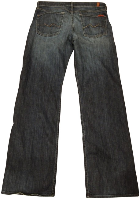 Item - Blue Dark Rinse Men's Relaxed Fit Jeans Size 32 (8, M)
