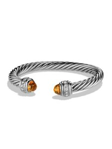 David Yurman Cable Classics Bracelet with Citrine and Diamonds, 7mm