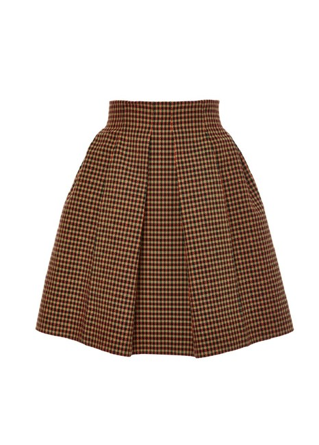 Item - Digital Checkered Pleated Skirt Size 4 (S, 27)