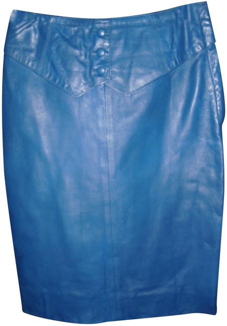 Item - Royal Blue Genuine Leather Paris Covered Skirt Size 6 (S, 28)