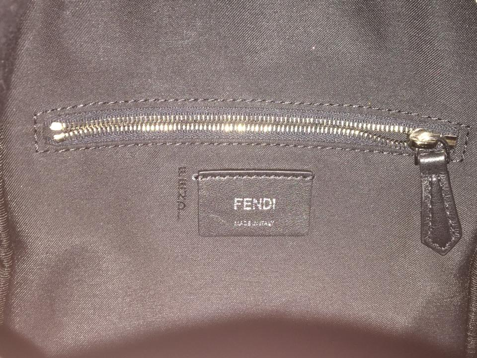 Fendi By The Way Mini Croc Tail Black Leather Backpack - Tradesy 8af772c86385f