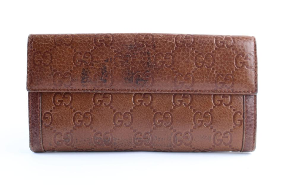 5061aec29c4 Gucci Long Bifold Flap Continental Soho Brown Clutch Image 10. 1234567891011