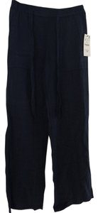 Zara Wide Leg Pants Navy Blue