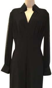 La Petite Robe di Chiara Boni Sheer Sleeves Sold Out Current Never Worn Dress