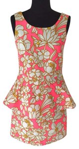 Julie Brown short dress Pink Blossom on Tradesy