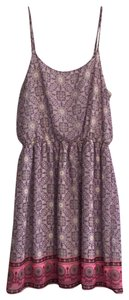 Francesca's short dress purple and pink on Tradesy