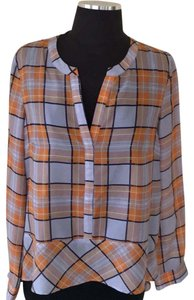 Sundance Button Down Shirt Orange Multi
