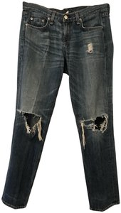 Rag & Bone Distressed Boyfriend Cut Jeans-Distressed