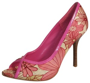 Charlotte Russe Open Pink Floral Pumps