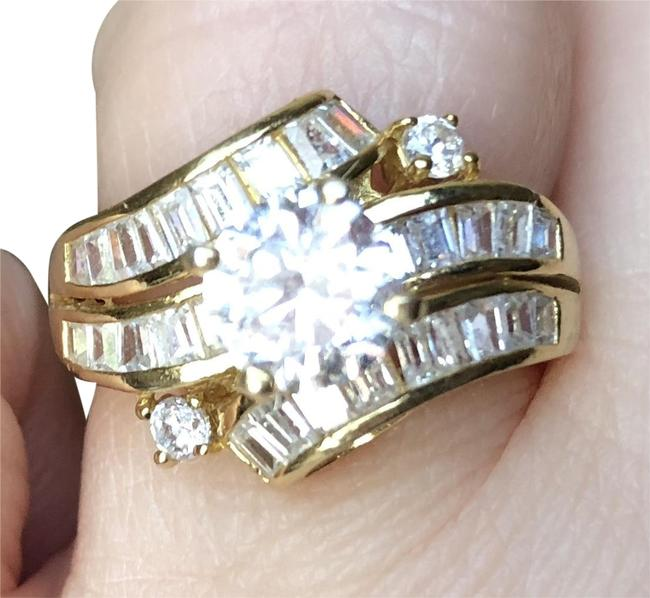 New Gold Flashed Austrian Crystal Sterling Ring New Gold Flashed Austrian Crystal Sterling Ring Image 1