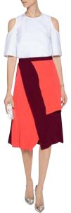 Tanya Taylor A-line Color-blocking Silk Skirt Multi-Color