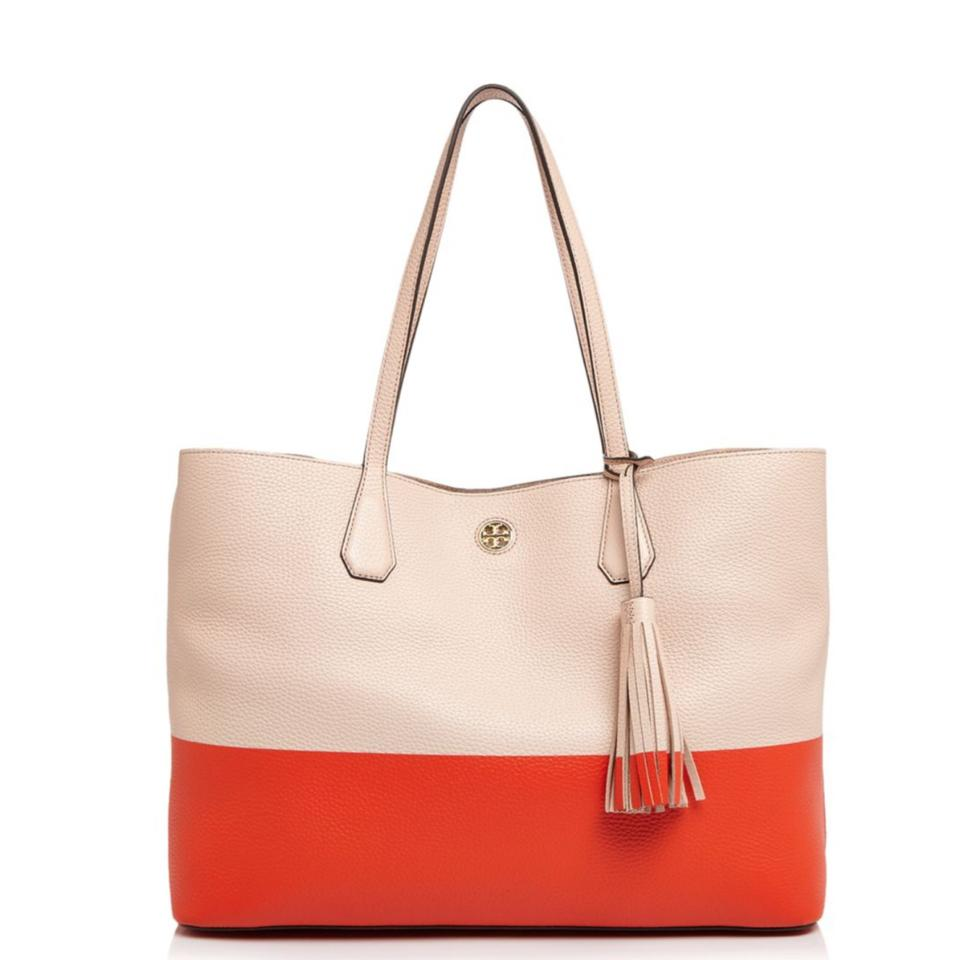 dc88808e33a3 Tory Burch Perry Color Block Leather Tote - Tradesy