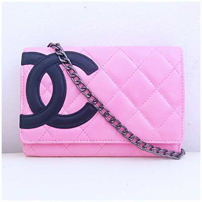Item - Cambon Wallet Pink Lambskin Leather Clutch