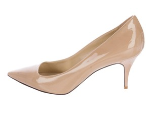 Stella McCartney Leather Patent Leather Heels Nude Pumps