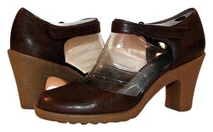 Aerosoles Mary Jane Tumbled Casual Comfort Comfortable Brown Pumps