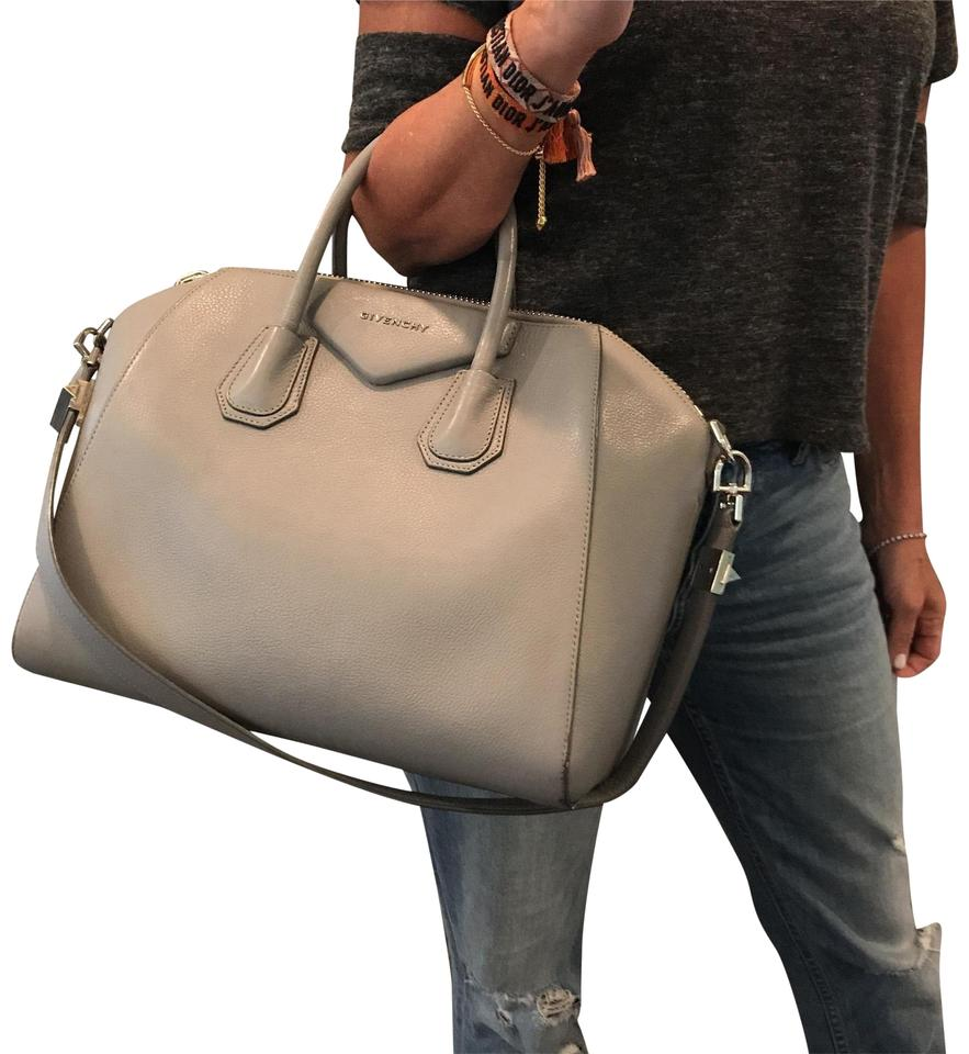 8c439f88f7 Givenchy Antigona Medium Gray Leather Satchel - Tradesy