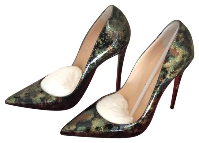 Item - Black Green Gold So Kate 120 Patent Multicolor Pumps Size EU 38.5 (Approx. US 8.5) Narrow (Aa, N)