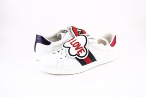 Gucci * White/Red/Blue Ace Sneaker with Removable Patches Shoes