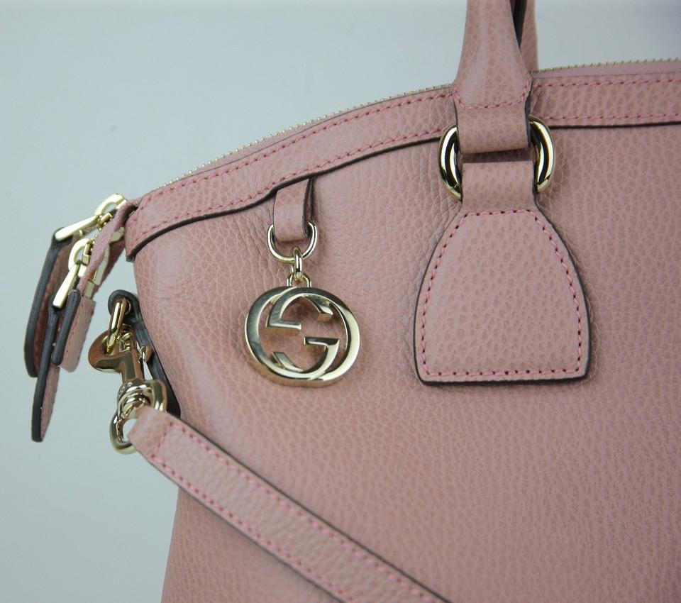 9fbe86096 Gucci Leather Gg Charm Convertible Cross Body Bag Image 9. 12345678910